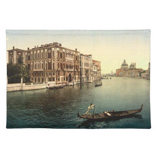 Canal de Grands del vintage Venecia II Mantel Individual