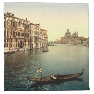 Canal de Grands del vintage Venecia II Servilleta Imprimida