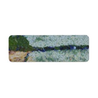 Canal de irrigación etiqueta de remite