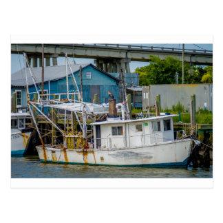 canal de la cabra de Georgia de la isla del tybee Tarjeta Postal