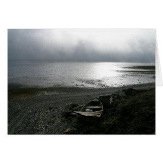 Canal de la capilla en niebla tarjeta de felicitación