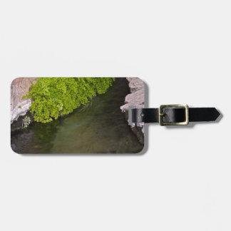 canal de la irrigación etiqueta para equipaje