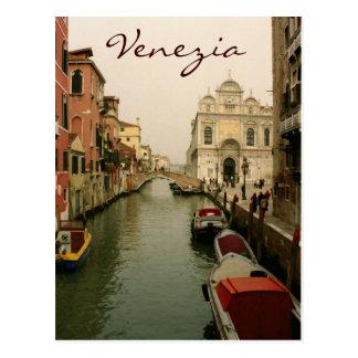 Canal de la postal de Venecia