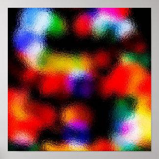 Canal de las luces del árbol de navidad la ventana póster