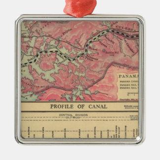 Canal de Panamá Adorno Navideño Cuadrado De Metal