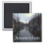Canal de Prinsengracht, Amsterdam Imán Cuadrado