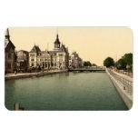 Canal de Rhone y del Rin, Mulhouse, Francia Iman Rectangular