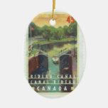 Canal de Rideau Adorno Navideño Ovalado De Cerámica