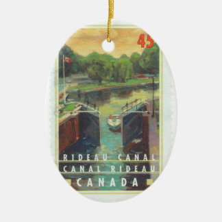 Canal de Rideau Adorno Ovalado De Cerámica