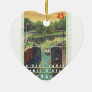 Canal de Rideau Adorno De Cerámica En Forma De Corazón