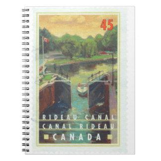 Canal de Rideau Libreta Espiral