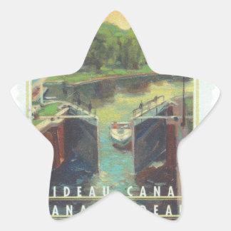 Canal de Rideau Pegatina En Forma De Estrella