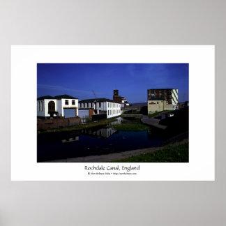Canal de Rochdale, Lancashire, Inglaterra Póster