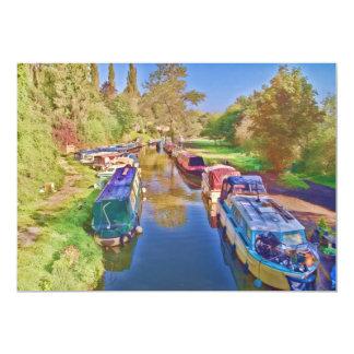 "Canal de Somerset Invitación 5"" X 7"""