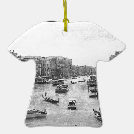Canal de Venecia Adorno Navideño De Cerámica En Forma De Playera