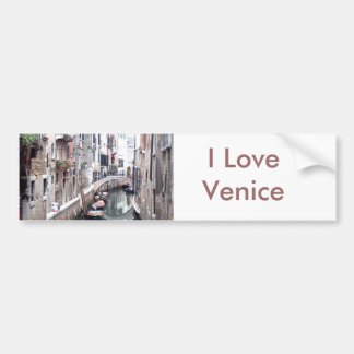 Canal de Venecia Etiqueta De Parachoque