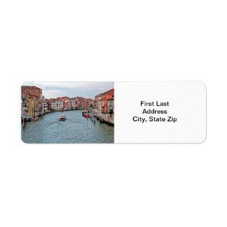 Canal de Venecia Etiqueta De Remite