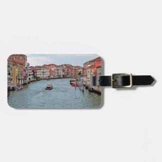 Canal de Venecia Etiqueta De Maleta