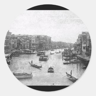 Canal de Venecia Pegatina Redonda