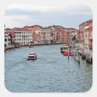 Canal de Venecia Pegatina Cuadrada