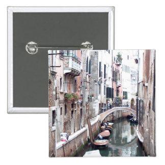 Canal de Venecia Pin Cuadrada 5 Cm