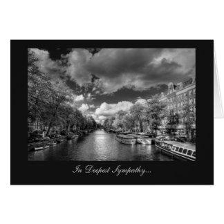 Canal de Wolvenstraat/de Singel - en la condolenci Tarjeta De Felicitación