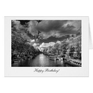 Canal de Wolvenstraat/de Singel - feliz cumpleaños Tarjeta De Felicitación