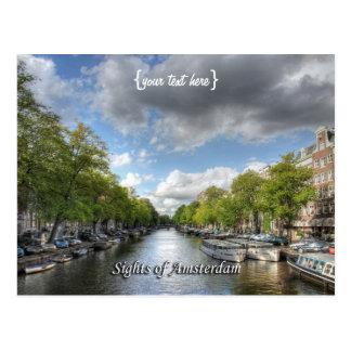 Canal de Wolvenstraat/de Singel, vistas de Tarjeta Postal