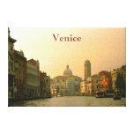 Canal del arte de la pared de la lona de Venecia Impresión De Lienzo
