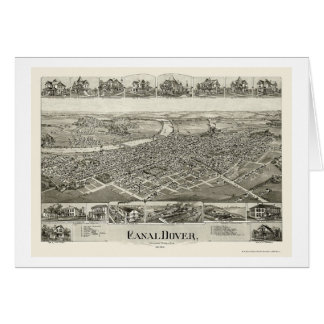 Canal Dover, OH Panoramic Map - 1899 Greeting Card