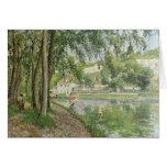 Canal du Loing 1902 de Moret de Camille Pissarro Felicitación