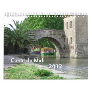 Canal du Midi 2012 Calendario De Pared
