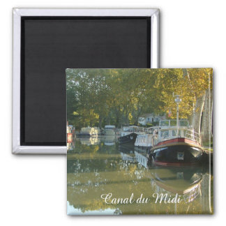 Canal du Midi, Capestang 2 Inch Square Magnet