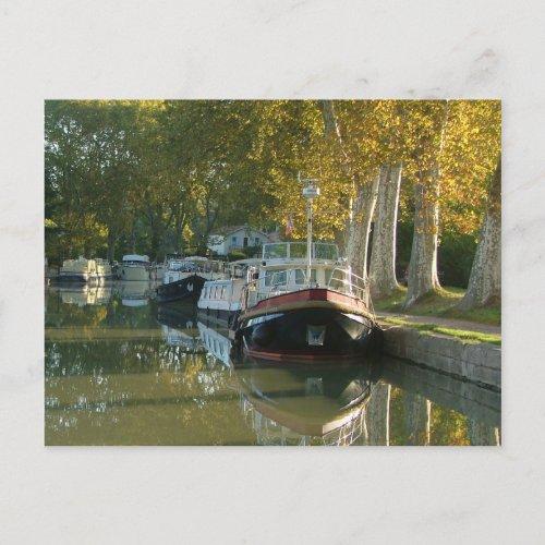 Canal du Midi - Capestang postcard
