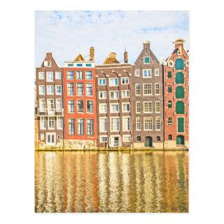 Canal en Amsterdam Postales