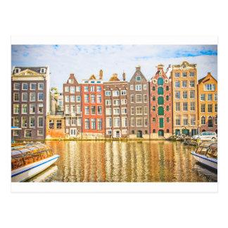 Canal en Amsterdam Tarjetas Postales