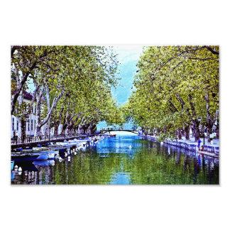 Canal en Annecy Francia Fotografía