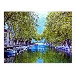 Canal en Annecy Francia Postales
