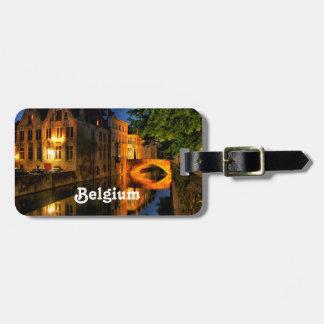 Canal en Bélgica Etiquetas Para Equipaje