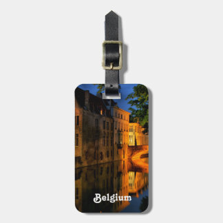 Canal en Bélgica Etiquetas De Equipaje