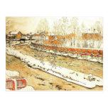 Canal en el invierno postales
