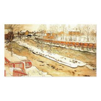 Canal en el invierno tarjeta de negocio