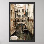 Canal en el poster de Venecia
