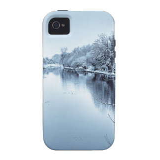 Canal en invierno vibe iPhone 4 fundas
