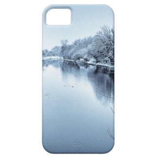 Canal en invierno iPhone 5 Case-Mate cobertura