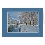 Canal en invierno tarjeta