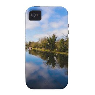 Canal en Kintbury iPhone 4 Carcasas
