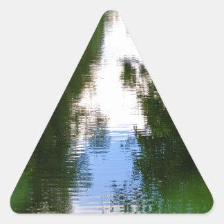 Canal en Kintbury Pegatina Triangular