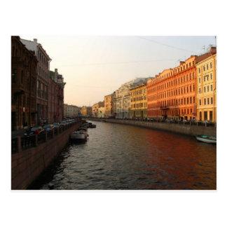 Canal en St Petersburg, Rusia Postal