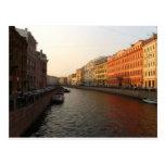 Canal en St Petersburg, Rusia Tarjeta Postal